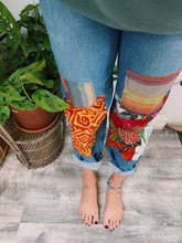 Load image into Gallery viewer, Bohemian Patchwork Jeans - VintageChameleon