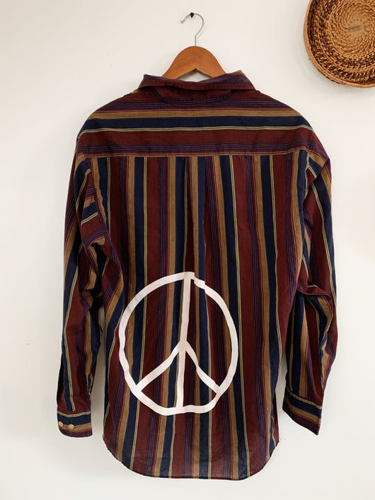 Retro Reds Peace Sign size Large