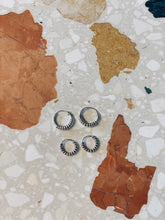 Load image into Gallery viewer, Boho Silver Hoops