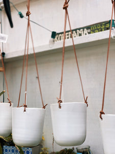 Leather Straps Hanging Planter - VintageChameleon