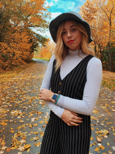 Load image into Gallery viewer, Pinstripe Jumpsuit - VintageChameleon