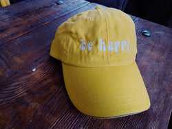 Be Happy Baseball Hat - VintageChameleon