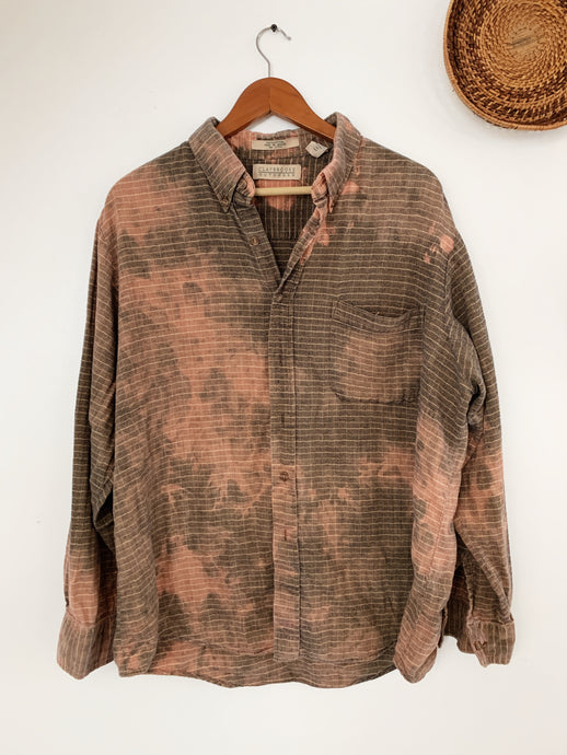 Bleached Out Tan Flannel size Large - VintageChameleon