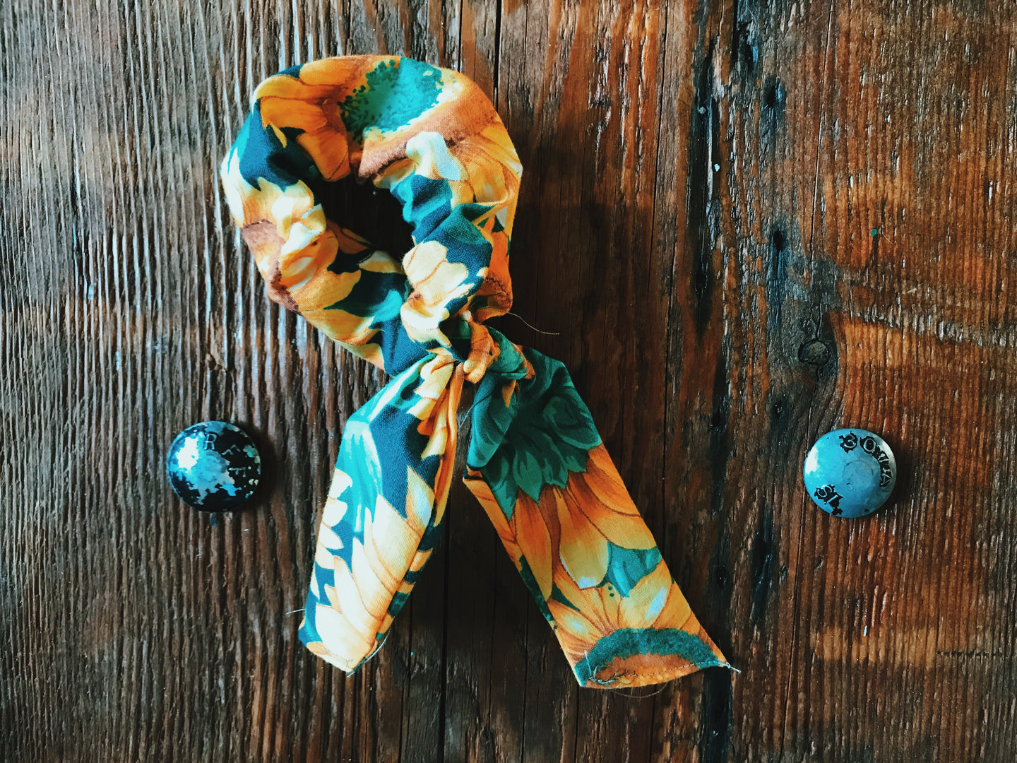 Sunflower Scrunchie Wrap - VintageChameleon