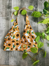 Load image into Gallery viewer, Sunflower Halter Bralettes - VintageChameleon