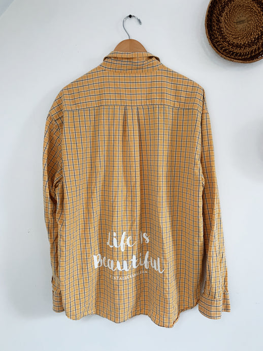 Yellow Life is Beautiful size XL - VintageChameleon