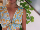Sun & Water Tie Front Crop Top
