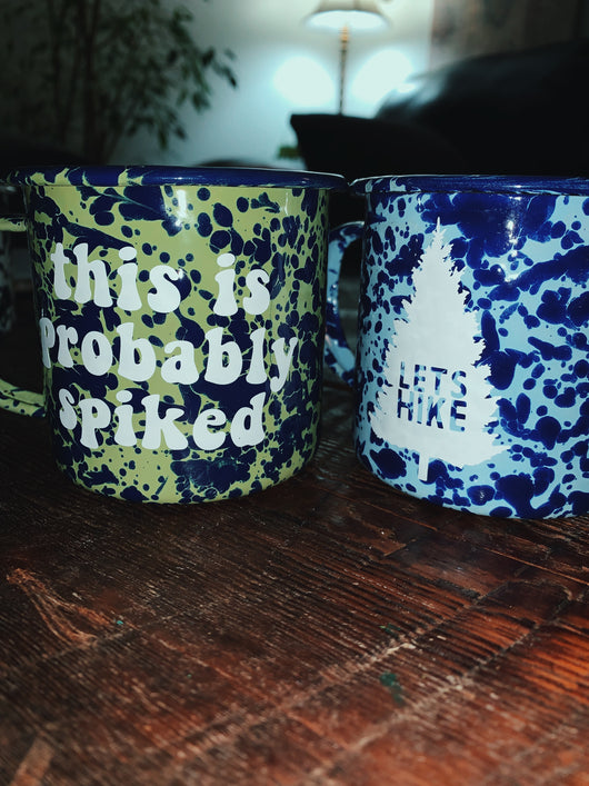 Speckled Tin Mugs