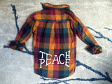 Teach Peace Flannel - VintageChameleon