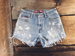 Grunged Out Boyfriend Shorts - VintageChameleon