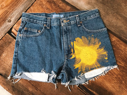 Sunflower Printed Denim - VintageChameleon