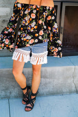 Gypsy Fringe Shorts