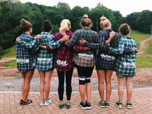 Bride and Bridesmaid Flannels