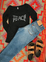 Long Sleeve Teach Peace Tee - VintageChameleon