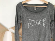 Load image into Gallery viewer, Long Sleeve Teach Peace Tee - VintageChameleon