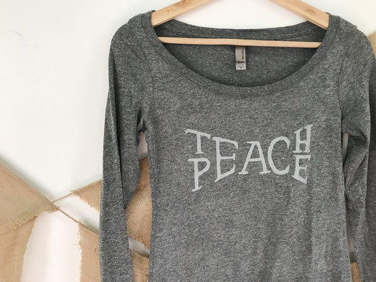 Long Sleeve Teach Peace Tee