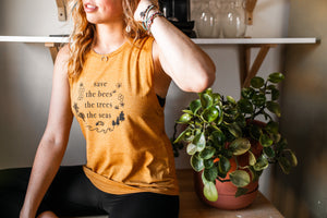Save The Bees Tank - VintageChameleon
