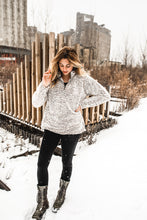 Load image into Gallery viewer, Cozy Sherpa Zip Sweatshirt - VintageChameleon