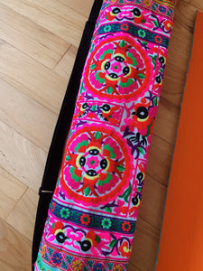 Thai Embroidered Yoga Mat Bag - VintageChameleon