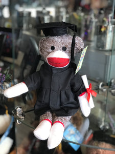 Graduation Sock Monkey