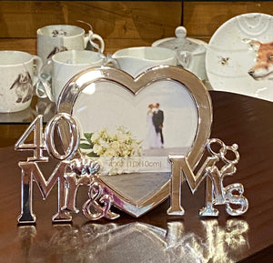 Frame - Mr & Mrs 40th