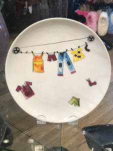Plate - Mom's Clothesline Pattern