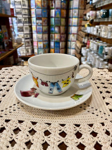 Cup and Saucer 6oz Mom's Clothesline
