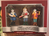 Mummer Ornaments Set of 3