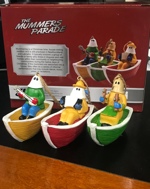Mummers in Dories - hanging ornaments