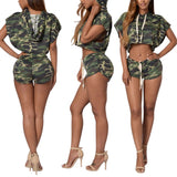 Summer Camouflage Womens Set Top + Shorts 2017 Clothing Party Club Sexy - LTS Trading Co