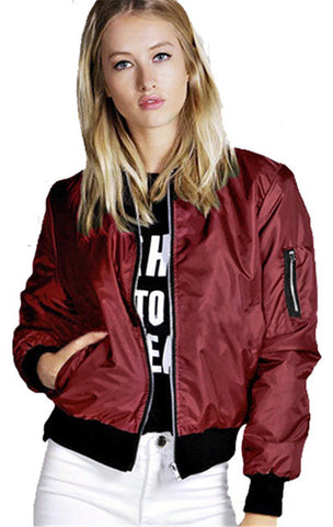 Womens Casual Bomber Jacket S-3XL #1023 - LTS Trading Co
