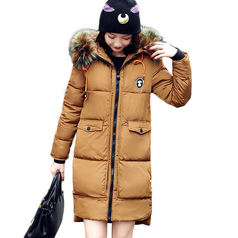 2017 Womens Fashion Winter Faux Fur Hooded Jacket Padded Long Sleeve Coat Parka - LTS Trading Co