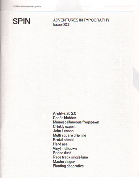 SPIN / Adventures in Typography