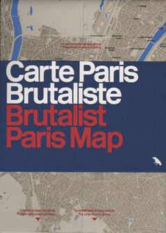 Brutalist Paris Map