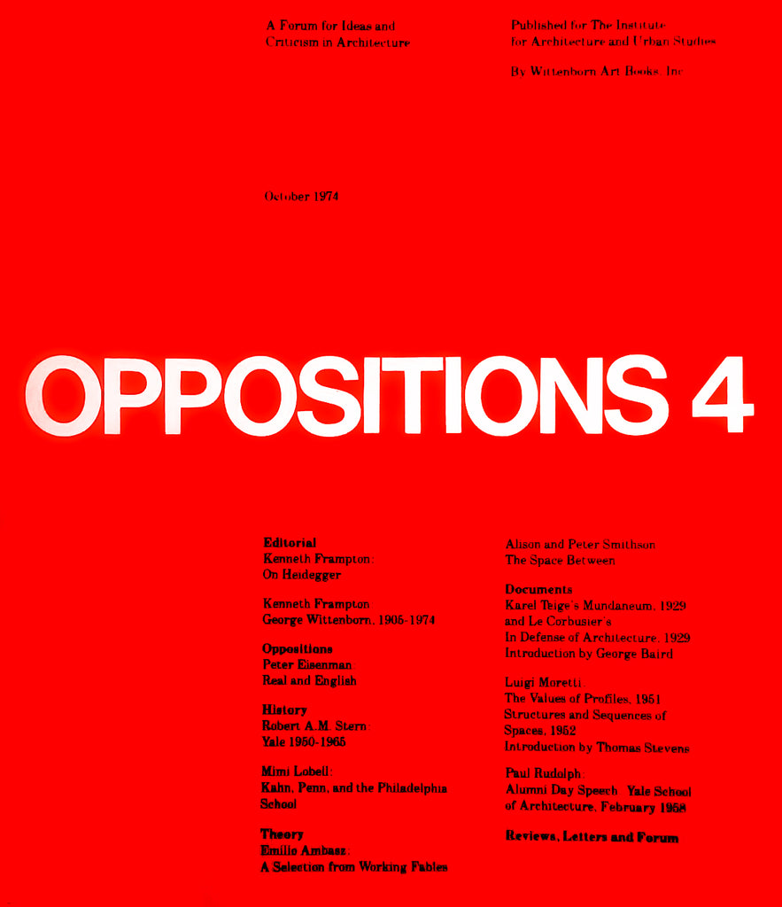 Oppositions 4
