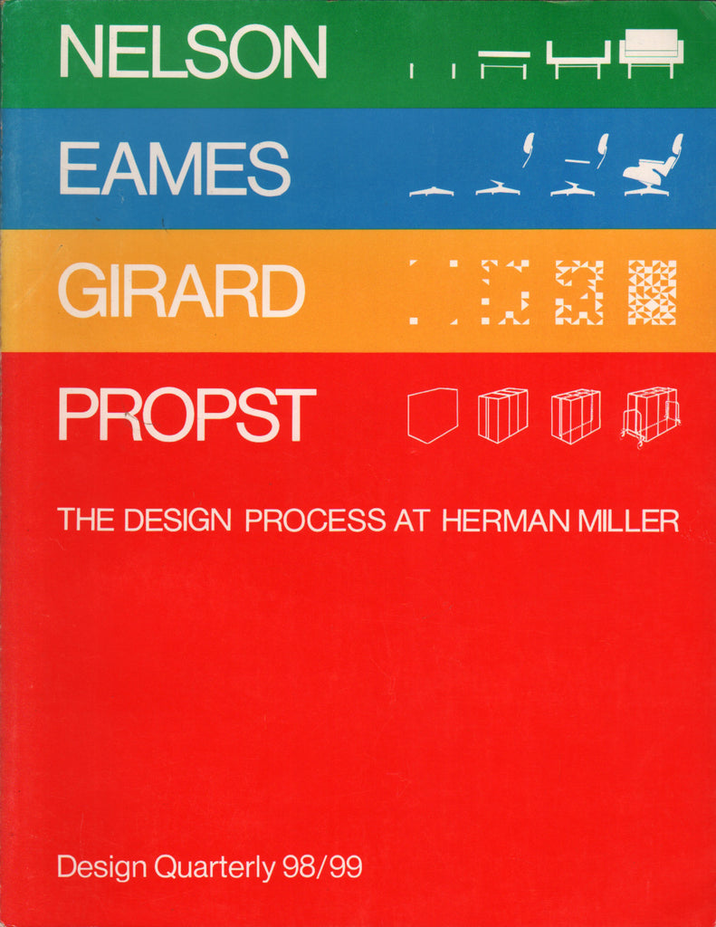 Design Quarterly 98/99: The Design Process at Herman Miller - Nelson, Eames, Girard, Propst.