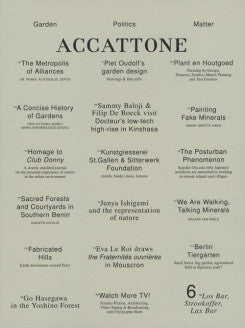 Accattone Magazine On Architecture Issue 6