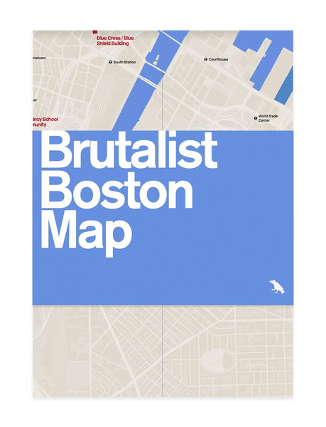 Brutalist Boston Map