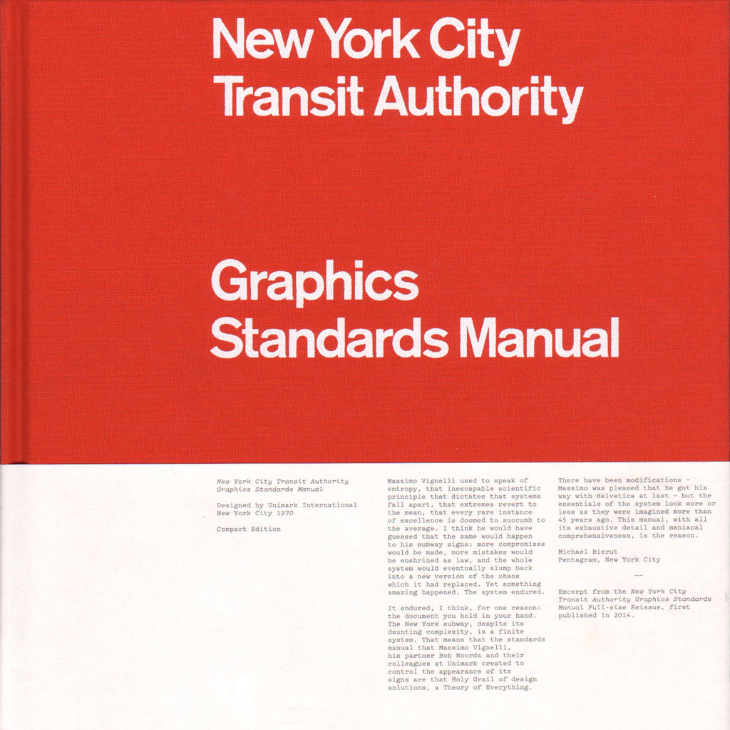 New York City Transit Authority Graphics Standard Manual (Compact Edition)