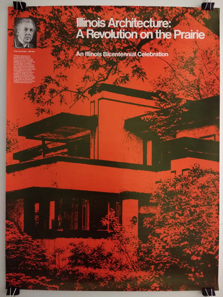Frank Lloyd Wright - Illinois Architecture - A Revolutionn On The Prairie (Poster)
