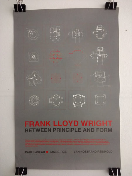 Frank LLoyd Wright - Between Principle And Form (Poster)