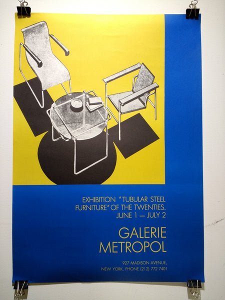 "Galerie Metropol – Exhibition ""Tubular Steel Furniture"" of the Twenties (Poster)"