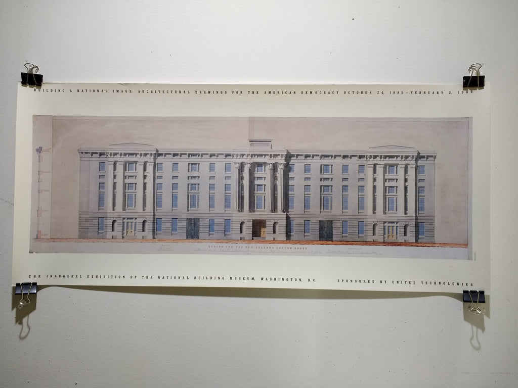Building A National Image: Architectural Drawings For The American Democracy (Poster)