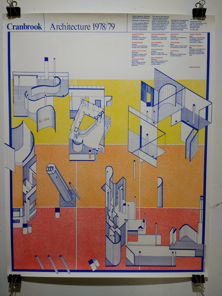 Cranbrook - Architecture 1978/79 (Poster)