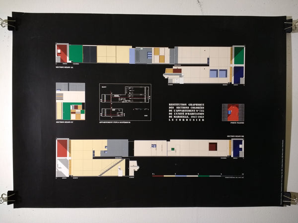 Le Corbusier - Restitution Graphique Des Section Colorees (Poster)
