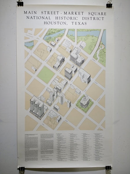 Main Street - Market Square - National Historic District Houston, Texas (Poster)