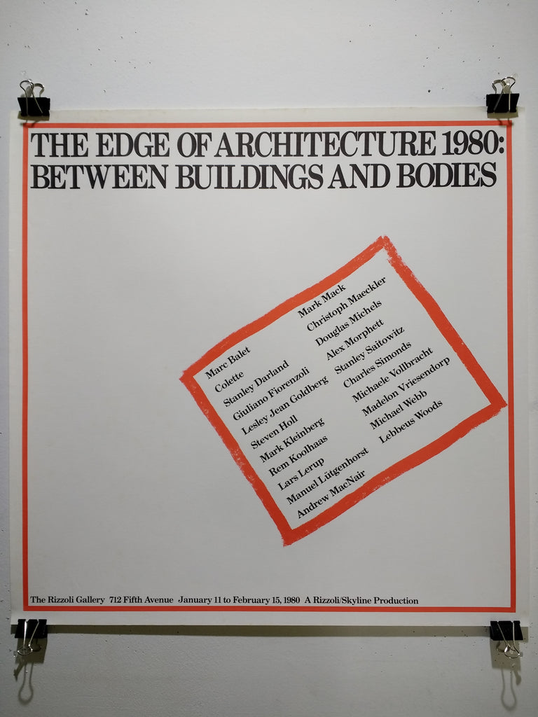 The Edge Of Architecture 1980: Between Buildings And Bodies (Poster)