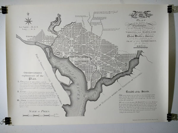 Plan Of The City Of Washington (Poster)