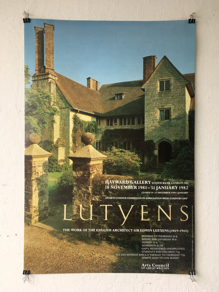 Edwin Lutyens - The Work of the English Architect Sir Edwin Lutyens (1869–1944) (Poster)