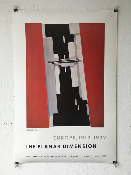 The Planar Dimension: Europe, 1912–32